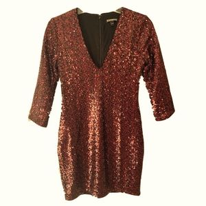 Red Sequin Dress from Express